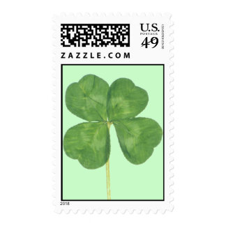 Lucky Four-Leaf Clover Shamrock Postage Stamps
