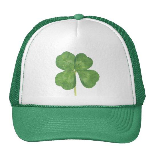 Lucky Four-Leaf Clover Shamrock Trucker Hat