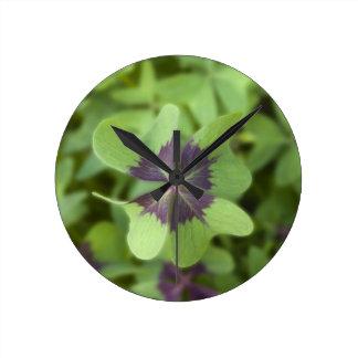 Lucky Four-Leaf Clover Shamrock Wall Clock