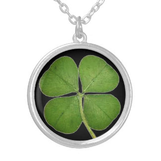Lucky Four Leaf Clover Silver Necklace