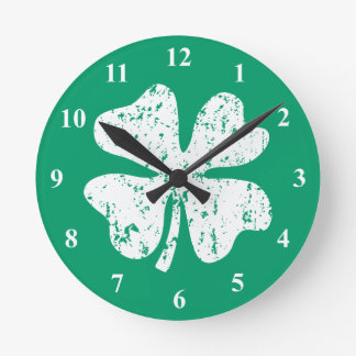 Lucky four leaf clover | St Patrick's Day clock