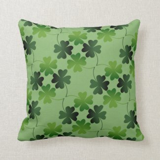 Lucky Four-Leaf Clover Throw Pillow