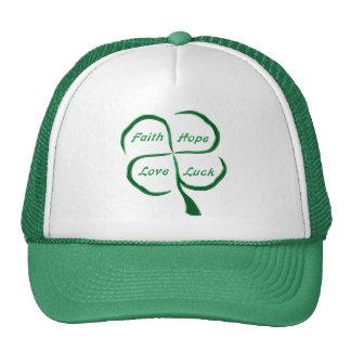 Lucky Four Leaf Clover Trucker Hat