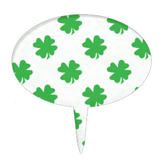 Lucky four leaf clovers cake topper