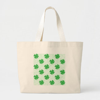 Lucky four leaf clovers large tote bag