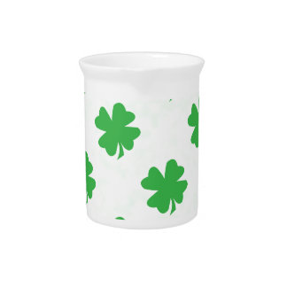 Lucky four leaf clovers pitchers