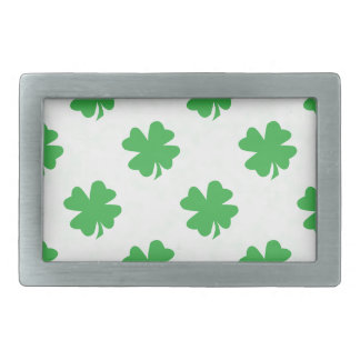 Lucky four leaf clovers rectangular belt buckle
