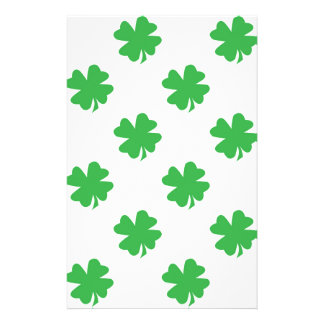 Lucky four leaf clovers stationery