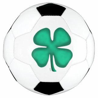 Lucky Four Leaf Irish Clover soccer ball