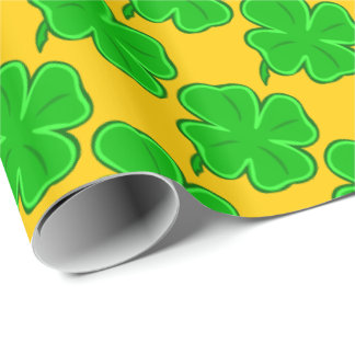 Four Leaf Clover Wrapping Paper Zazzle