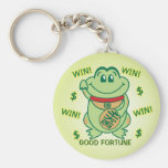 Lucky Frog Win! Keychain