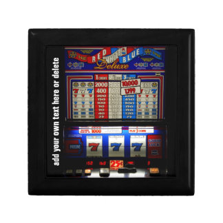 Lucky Gambler Slot Machine Keepsake Box