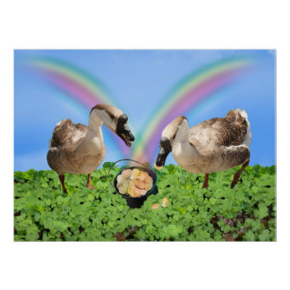 Lucky Geese Poster