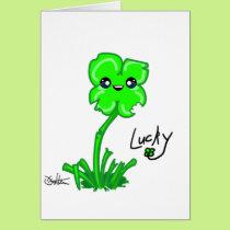Lucky get well soon card