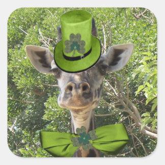 Lucky Giraffe Square Sticker