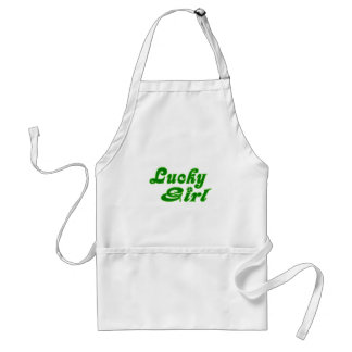 Lucky Girl Festive Green Adult Apron