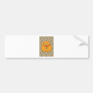 Lucky Gold Cat Bumper Sticker
