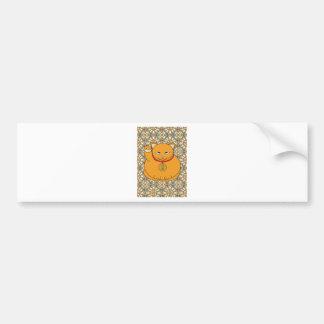 Lucky Gold Cat Bumper Sticker