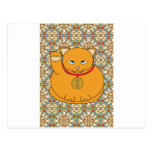 Lucky Gold Cat Post Card
