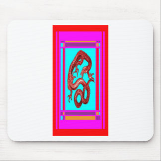 Lucky Gold Dragon, Feng Sui Pink nby Sharles Mouse Pad