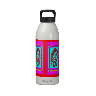 Lucky Gold Dragon, Feng Sui Pink nby Sharles Reusable Water Bottle
