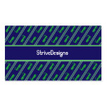 Lucky Grasshopper Striped Business Cards