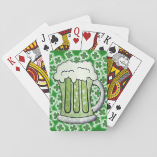Lucky Green Beer Playing Cards