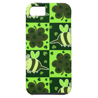 Lucky Green Checkered Bee Pattern iPhone 5 Case