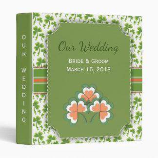 Lucky Green Clover Wedding Binder