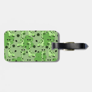 Lucky Green Giraffe Pattern Tags For Bags