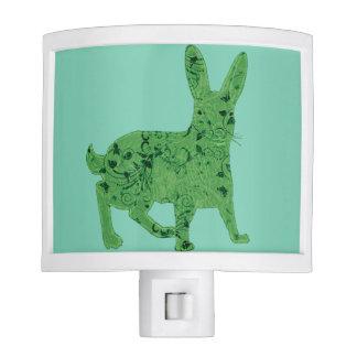 Lucky Green Hare   nightlight