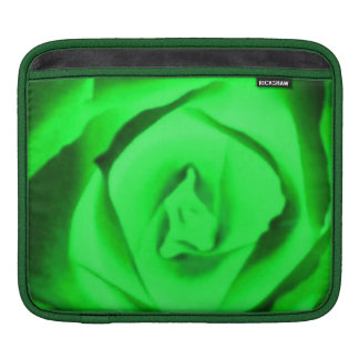 Lucky Green Rose Blossom Floral Nature Photo Fun Sleeves For iPads