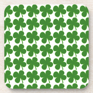 Lucky Green Shamrock Beverage Coaster