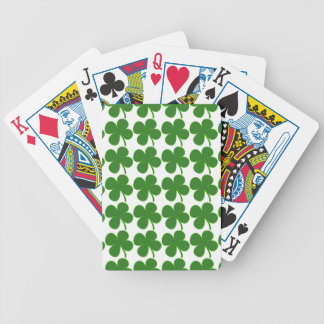 Lucky Green Shamrock Bicycle Playing Cards