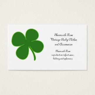 Lucky Green Shamrock Business Card