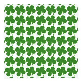 Lucky Green Shamrock Card