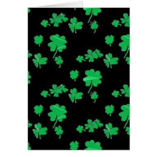 Lucky Green Shamrock Four Leaf Clover irish Card