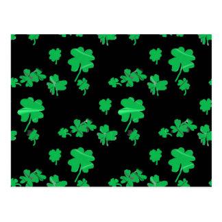 Lucky Green Shamrock Four Leaf Clover irish Post Card