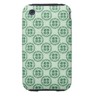 Lucky Green Shamrock Pattern iPhone 3 Tough Case