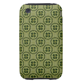 Lucky Green Shamrock Pattern Tough iPhone 3 Cover