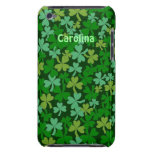 Lucky Green Shamrocks Irish Name ipod Touch iPod Case-Mate Cases