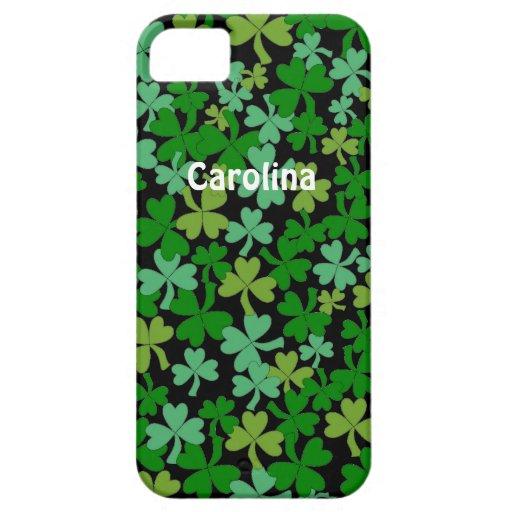 Lucky Green Shamrocks Irish Personalized iphone 5g iPhone 5 Cover