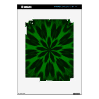 Lucky Green Spotted Leopard Kaleidoscope iPad 3 Decals
