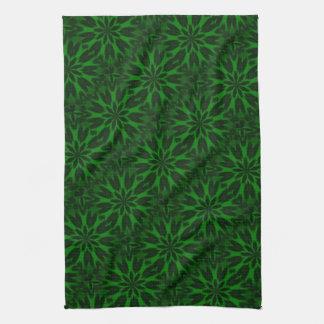 Lucky Green Spotted Leopard Kaleidoscope Towel