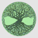 Lucky Green Tree of Life Classic Round Sticker (<em>$4.95</em>)