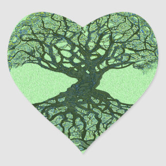 Lucky Green Tree of Life Stickers