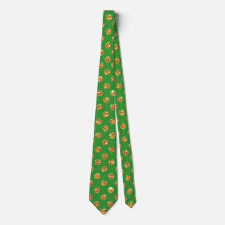 Lucky Green with Gold Pieces Tie