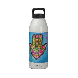 Lucky Hamsa Hand Reusable Water Bottle