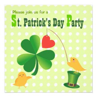 Lucky Happy St. Patrick's Day Party Invitation