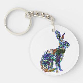 Lucky Hare Charm | keychain 2015 Round Acrylic Keychain